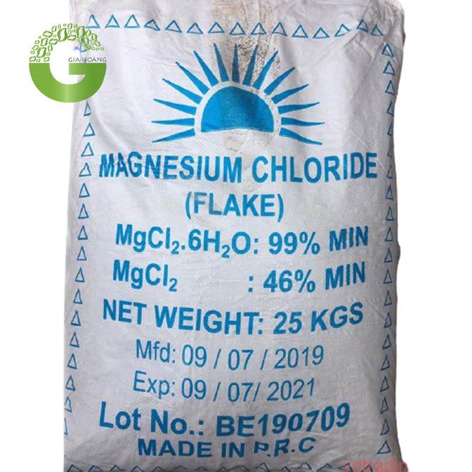 MgCl2 - Magnesium Chloride, Trung Quốc, 25kg/bao