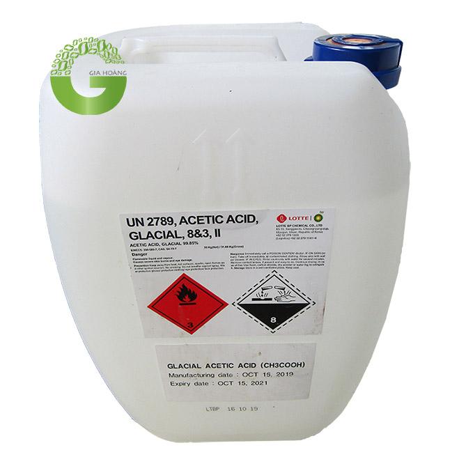 CH3COOH - Acid Acetic, Hàn Quốc, Đài Loan, 30kg/can.